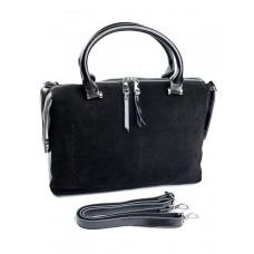 Женская сумка из натуральной замши №8665-B Черный
