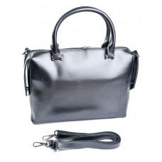 Женская сумка натуральная кожа Parse №8665 Серебро