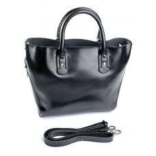 Женская сумка натуральная кожа Parse №8668 Черный