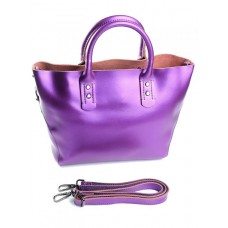 Женская сумка из натуральной кожи Parse №8668 Фиолетовый