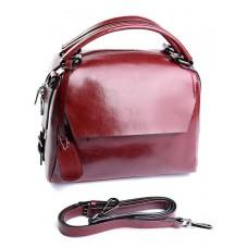 Кожаная сумка женская Parse №868 Красный