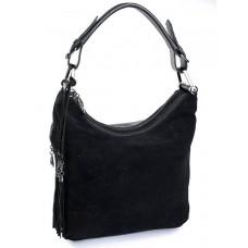 Женская сумка замшевая Parse №871 черный