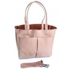 Женская сумка кожа Parse №8711 Розовый