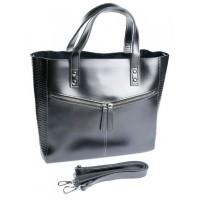 Женская сумка натуральная кожа Parse №8713-1 Серый