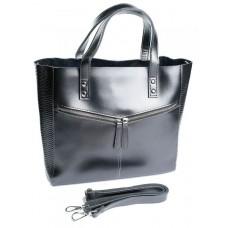 Женская сумка натуральная кожа Parse №8713-1 Серебро