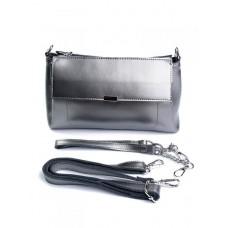 Женская сумка из натуральной кожи №8721 Серебро