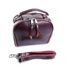 Женская сумка натуральная кожа Parse №8729 Бордовый