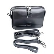 Женская кожаная сумка Parse №8735 Черный