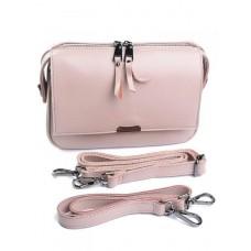 Женская кожаная сумка Parse №8735 розовый