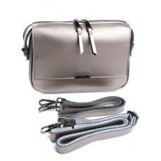 Женская сумка кожаная Parse №8735 серебро