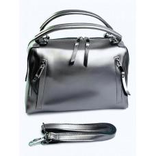 Женская сумка натуральная кожа Parse №8763 Серебро