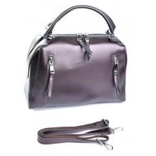Кожаная женская сумка Parse №8763 Коричневый