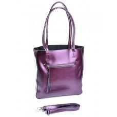 Кожаная сумка женская Parse №8773 Фиолетовый