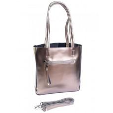 Женская сумка кожаная Parse №8773 Бронза