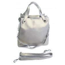 Женская сумка из натуральной кожи Parse №8784 Серый