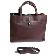 Женская сумка натуральная кожа Parse №883 Коричневый