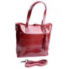 Женская сумка из натуральной кожи Parse №8870 Красный