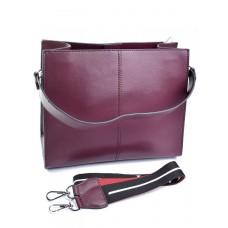 Женская сумка натуральная кожа Parse №888 бордовый