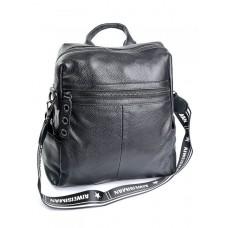 Кожаный женский рюкзак Parse №88801 Черный