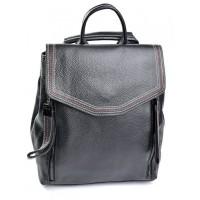 Женский рюкзак из кожи Parse №88805 Черный