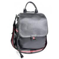 Рюкзак из натуральной кожи женский Parse №88809 Черный