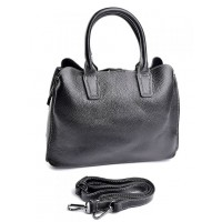 Женская кожаная сумка классическая Parse 89031 Black