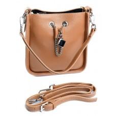 Женская сумка натуральная кожа Parse №89060 Рыжий