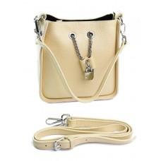 Женская сумка из натуральной кожи Parse №89060 Бежевый