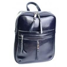 Кожаный женский рюкзак №8926-2 Синий