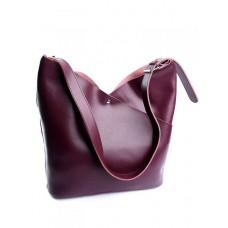 Женская сумка из кожи Parse №892HK Бордовый