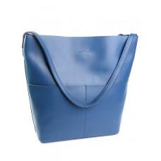 Кожаная сумка женская Parse №893 синий