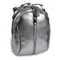 Кожаный женский рюкзак Parse №8950 Серый