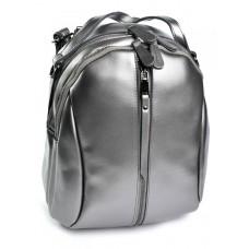 Кожаный женский рюкзак №8950 Серый