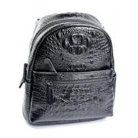 Женский кожаный рюкзак Parse №8980 Черный