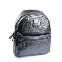 Рюкзак кожаный женский Parse №8980 Серый