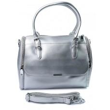 Женская кожаная сумка Parse №9001G Серебро