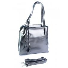 Женская сумка из натуральной кожи Parse №91391 Серый