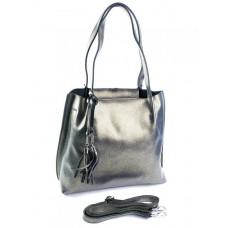 Женская сумка натуральная кожа Parse №91391 Серебро