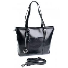 Женская кожаная сумка Parse №91399 Черный