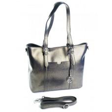 Женская сумка кожа Parse №91399 Серебро