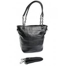 Женская сумка натуральная кожа Parse №996 Черный