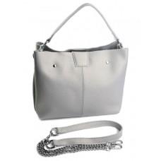 Женская сумка кожа Parse №A-1257-208 Серебро
