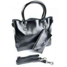 Женская сумка натуральная кожа Parse №A2048 Черный
