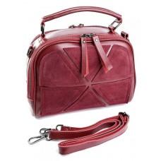 Женская сумка из замши и кожи Parse №A2095-1 Красный