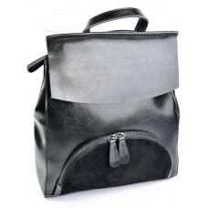 Рюкзак женский из замши и кожи Parse №A5063-1 Черный