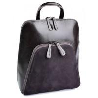 Женскй рюкзак из кожи и замши Parse №A511-2 Коричневый