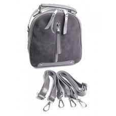 Женскй рюкзак из кожи и замши Parse №A6039-1 Серый