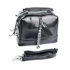 Женская кожаная сумка Parse №A7051 Черный