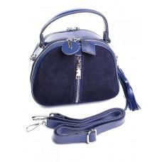 Кожаная сумка с комбинацией замши Parse №A7053-1 Синий