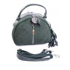 Женская сумка из кожи и замши Parse №A7053-1 Зеленый
